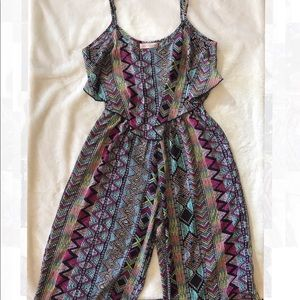 BAND OF GYPSIES RUFFLE TOP JUMPSUIT